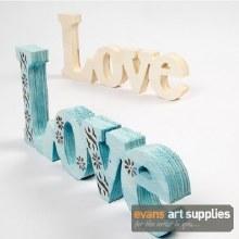 Wooden Wording Love