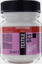 Amsterdam Deco Textile 126 White Opaque 50ml