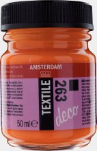 Amsterdam Deco Textile 263 Orange Opaque 50ml