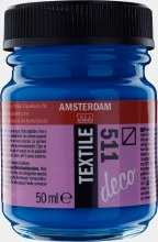 Amsterdam Deco Textile 511 Cobalt Blue 50ml