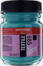 Amsterdam Deco Textile 685 Turquoise Opaque 50ml