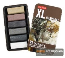 Derwent XL Charcoal Blocks 6s