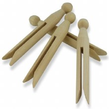 Dolli Pegs Natural 24s