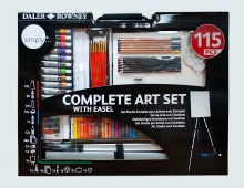 Daler Rowney Simply Complete Art Set With Easel