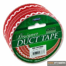 Craft Duct Tape Red Pattern