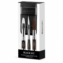 Escoda Black 3 TravelBrush Set