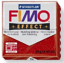 FIMO EFFECT 56G Glitter Red