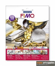 Fimo Leaf Metal Silver 10s