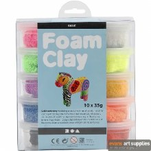 Foam Clay Assorted Colour Set