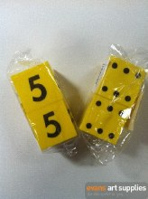 Foam Number Dice 2pc