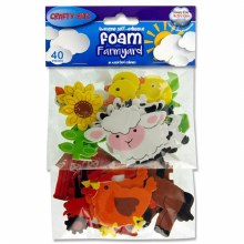Foam Stickers Farm Animals 40s