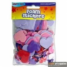 Foam Stickers Hearts 155s