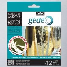 Gedeo Pack of 12 Mirror Effect Metal Leaves Gold