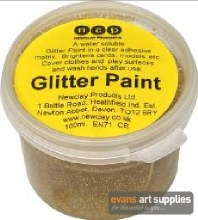Glitter Paint 100ml Gold