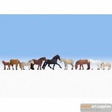 Horses, 9 assorted