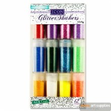 Icon 12x9g Glitter Shakers P&N