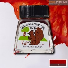 WINSOR & NEWTON INK 14ML BURNT SIENNA