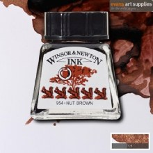 WINSOR & NEWTON INK 14ML NUT BROWN
