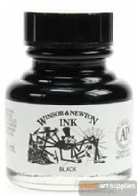 WINSOR & NEWTON INK 30ML BLACK