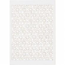 Lace Pattern Flower 10.5x15cm White 10s