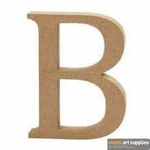 MDF Letter 13cm - B