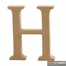 MDF Letter 13cm - H