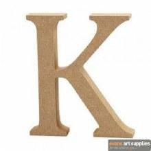 MDF Letter 13cm - K