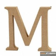 MDF Letter 13cm - M