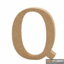 MDF Letter 13cm - Q