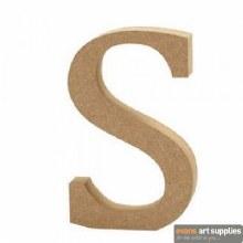 MDF Letter 13cm - S