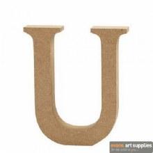 MDF Letter 13cm - U
