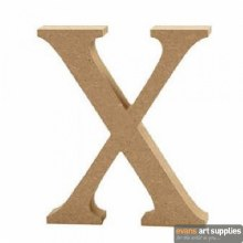 MDF Letter 13cm - X