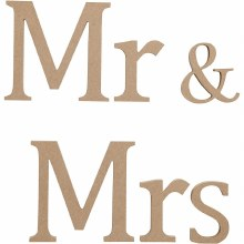 MDF Letters Mr & Mrs