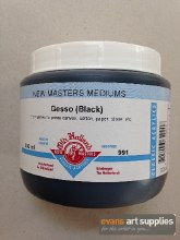New Masters 500ml Black Gesso
