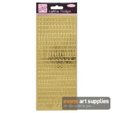 Outline Stickers Capitals Gold