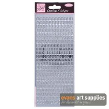 Outline Stickers Capitals Silv