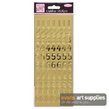 Outline Stickers Large No Gold