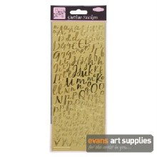 Outline Stickers Modern Alphab
