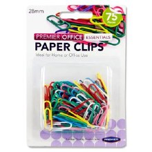 Paper Clips 75 x Ass Colours