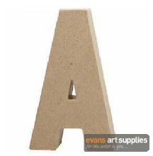 Papier Mache Large Letter A