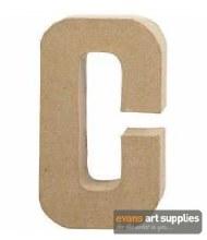 Papier Mache Large Letter C