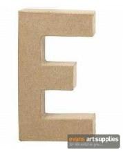 Papier Mache Large Letter E