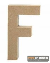 Papier Mache Large Letter F