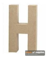 Papier Mache Large Letter H