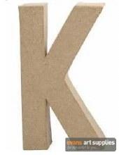 Papier Mache Large Letter K
