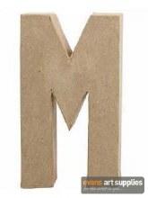 Papier Mache Large Letter M