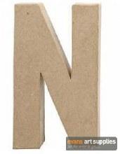 Papier Mache Large Letter N