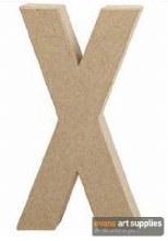 Papier Mache Large Letter X