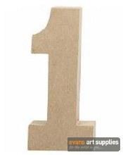 Papier Mache Large Number 1