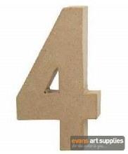 Papier Mache Large Number 4
